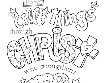 The Way of the Cross coloring page and bookmarks   Etsy