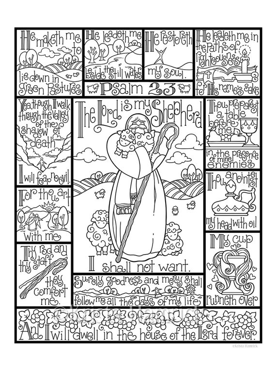 Psalm 10 coloring page in three sizes: 10.10X10 10X10 suitable | Etsy