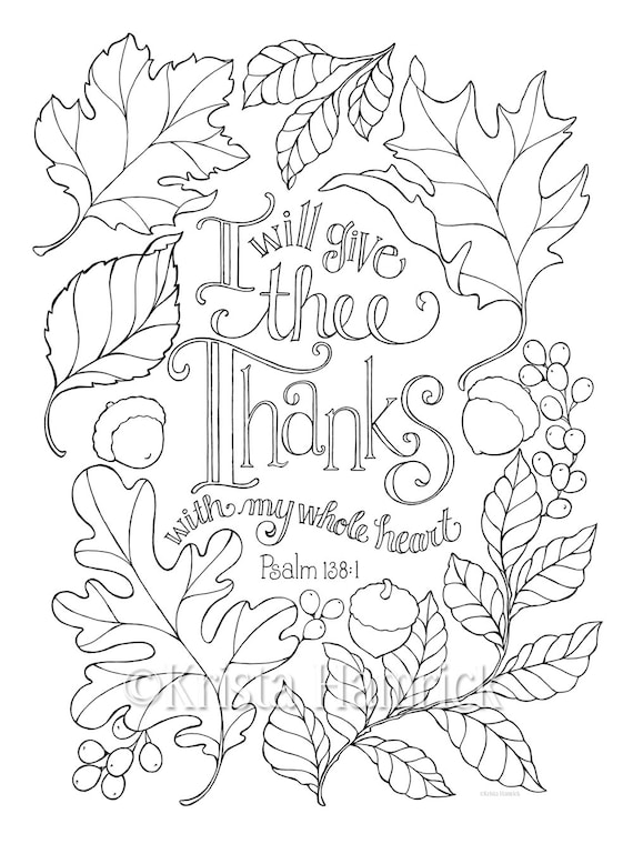 My Whole Heart  coloring page in two sizes: 8.5X11 and Bible