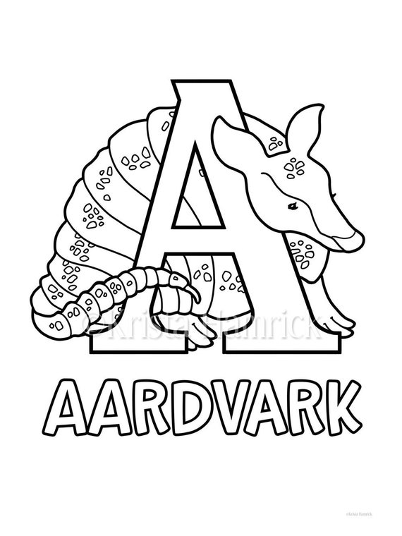 Animal Alphabet, A-Z animal coloring pages, 27 pages