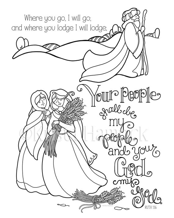It is a picture of Irresistible Ruth Coloring Page