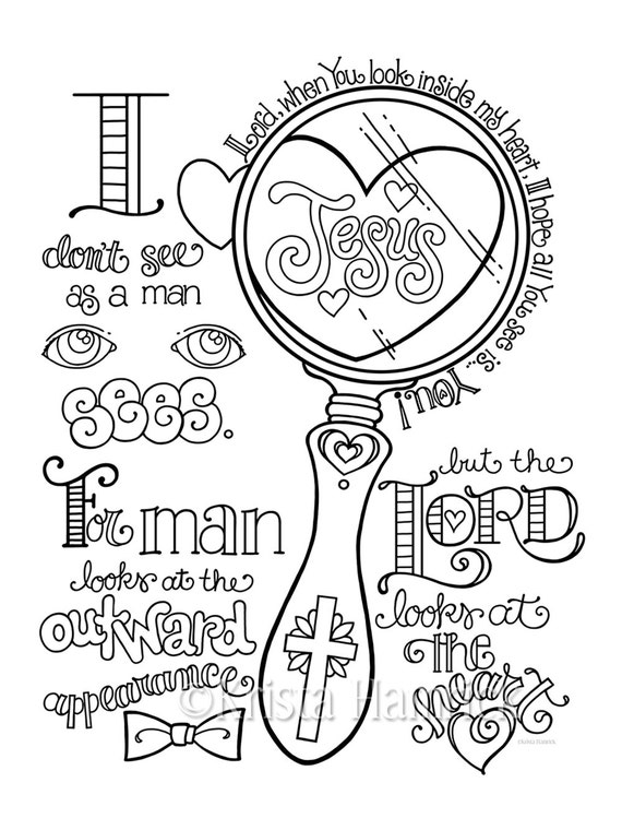 Look in My Heart coloring page