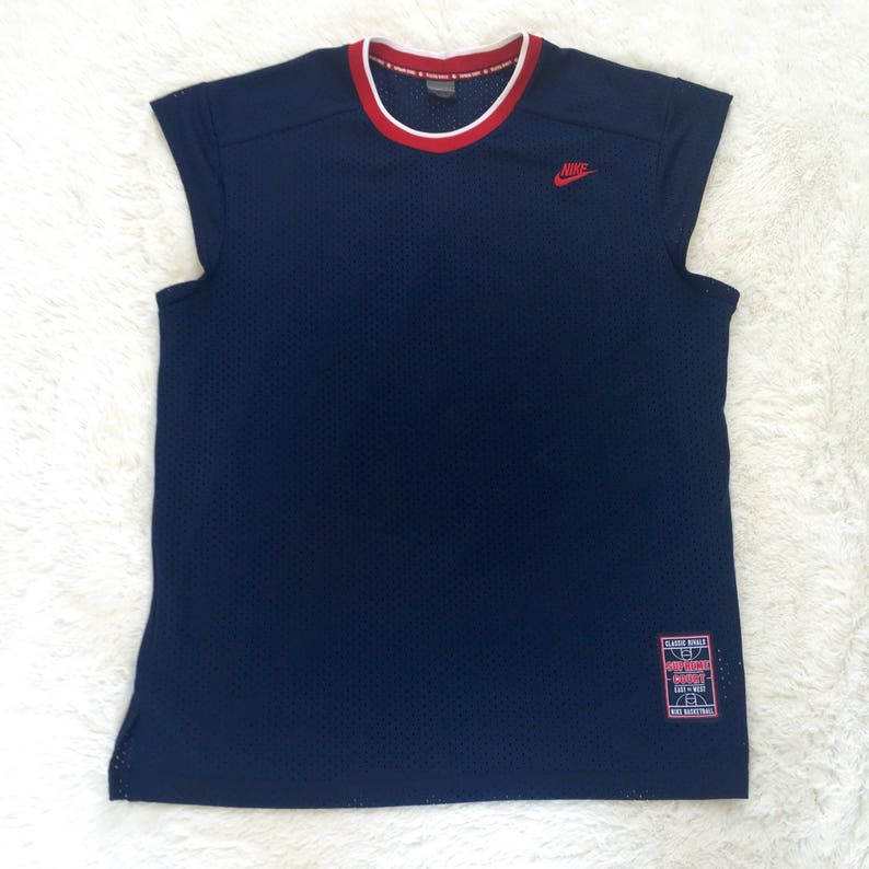 d77fd47d4d1c7 Vintage Nike Supreme Court Classic Rivals East vs West Sleeveless  Basketball Jersey Men's Size Extra Large- Nike Mesh Basketball Jersey
