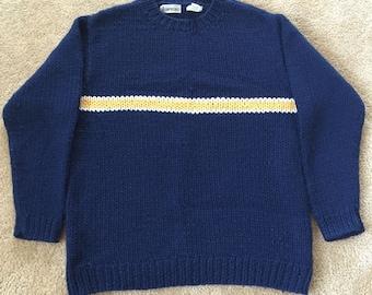 Vintage Armani Men's Merino Wool w/ Blue Zipper Side Size 36 Oversized ViCCs