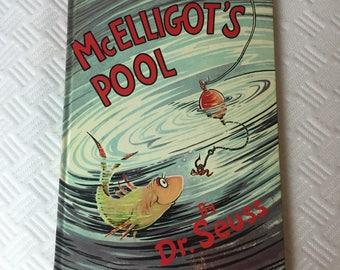 Vintage McElligot's Pool Dr. Seuss Hard Cover Children's Book