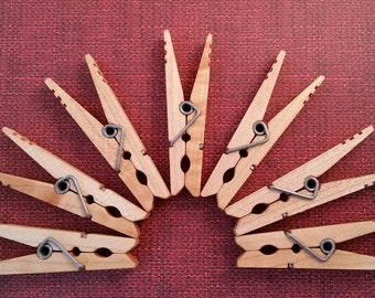 Wooden Clothespins Etsy