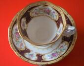 A Vintage Royal Albert Lady Hamilton Bone China Cup Saucer - Ideal Gift Birthday Present
