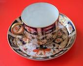 Circa - 1899 ROYAL CROWN DERBY Miniature Imari Coffee Can Saucer - Porcelain Bone China