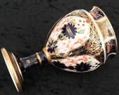 Circa - 1913 Antique Royal Crown Derby Miniature Imari Vase - Collectible