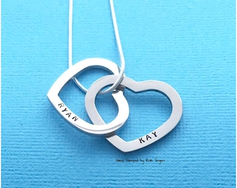 Personalised Necklace / Valentine's Day Gift / Hand Stamped Necklace / Family Gift / Gift For Mum / Gift For Her / Mother's Day gift