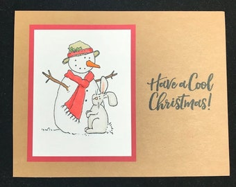 Cool christmas card etsy have a cool christmas snowman greeting card m4hsunfo