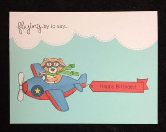 Flying By To Say Happy Birthday Greeting Card