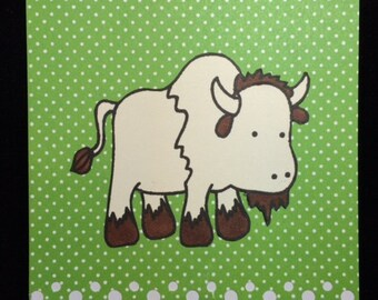 Roaming Over To Say Hi Buffalo (Bison) Greeting Cards