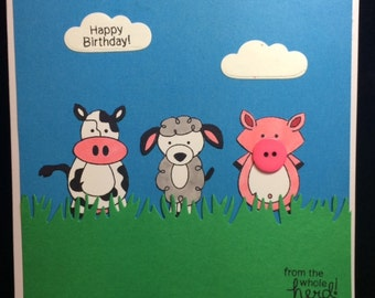 Happy Birthday From The Whole Herd Birthday Card