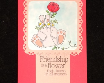Friendship Is A Flower Greeting Card