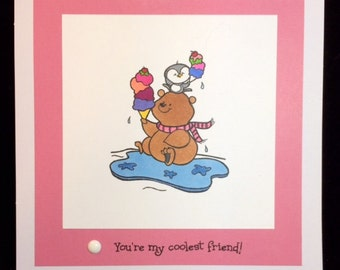 You're My Coolest Friend Greeting Card