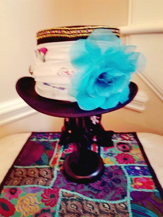 Black Top Hat Stevie Nicks Inspired Large