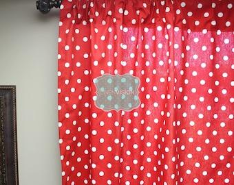 Dots Curtain Panel Retro Custom Curtain Panel by Spoonflower Polka Dot White Black by juliesfabrics