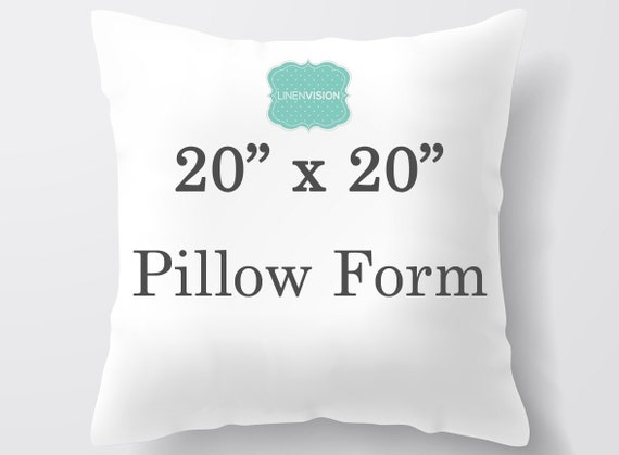 Pillow Insert 20 X 20 Inch Pillow Form Decorative Pillow Etsy