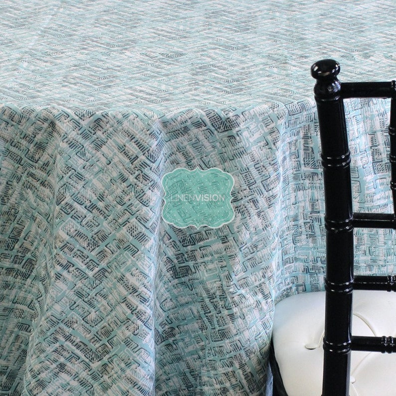 Canal Blue Green Tablecloth Choose Your Size Table Linen Wedding Home Decor Dining Kitchen Caldwell Premier Prints