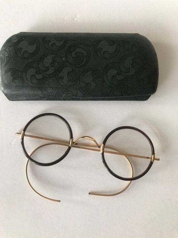 Vintage Amber Wrapped Eyeglasses | Vintage Eyewear