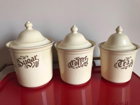 Attirant Vintage Pfaltzgraff Village Sugar Coffee U0026 Tea Canister In | Etsy