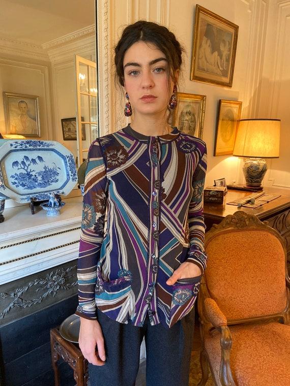 1990s Jean Paul Gaultier mesh cardigan top, psyche