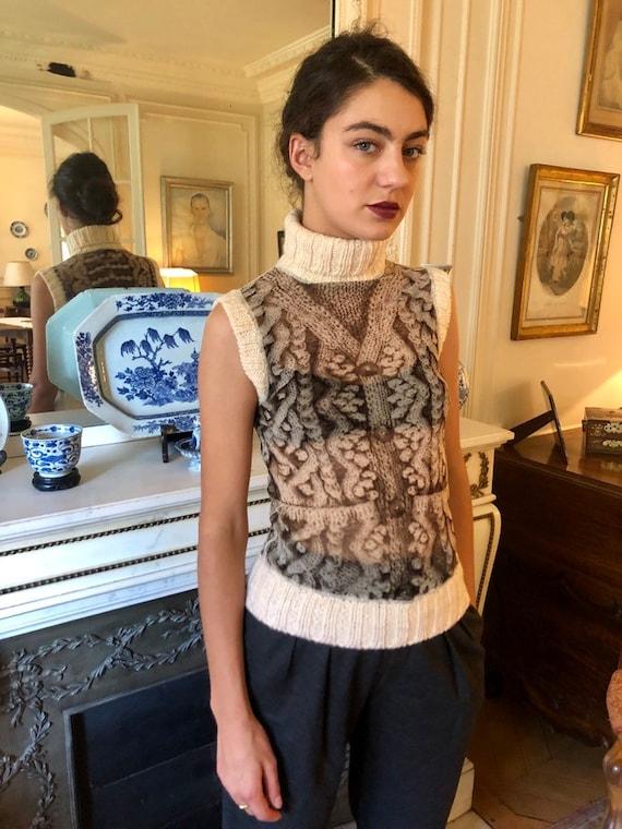 1990s Jean Paul Gaultier Maille Femme mesh top, kn