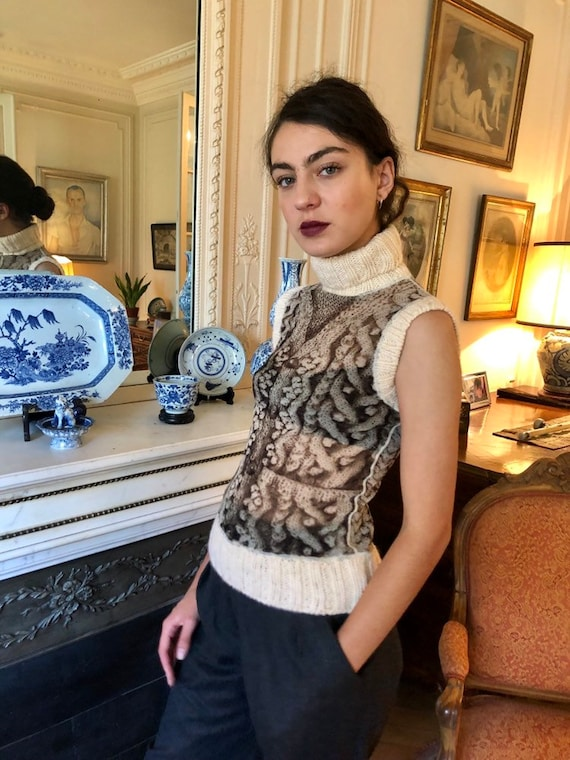 1990s Jean Paul Gaultier Maille Femme mesh top, k… - image 2