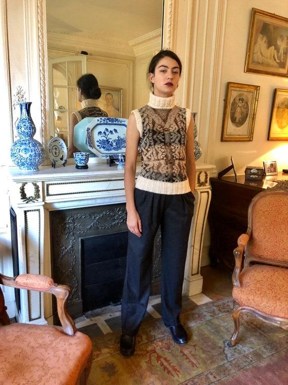 1990s Jean Paul Gaultier Maille Femme mesh top, k… - image 6