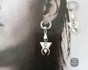 Original Men's Creole Earring!! MINI TRIANGLE!! and Argente T.4cm x 1.2cm The Bad Rebel Collection boho chic