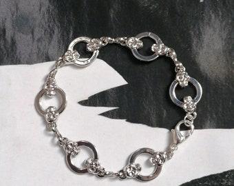 Original Bracelet !! SKULLS!! silver T.18cm The Bad Rebel boho chic collection