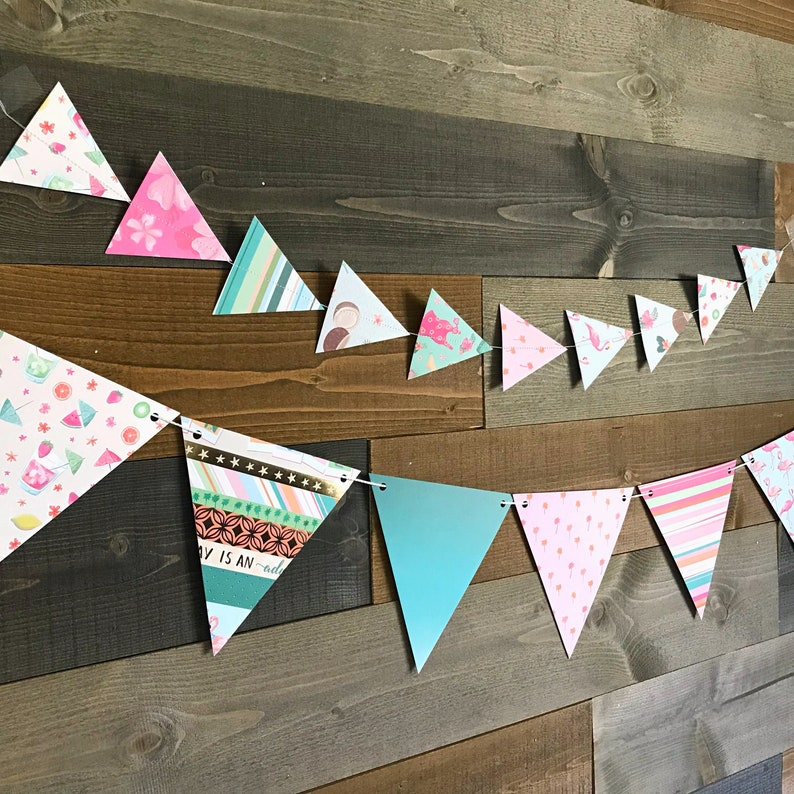 cocktail beach drink flowers bathing suit birthday paper Garland party foliage pineapple