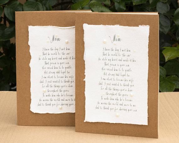 Geliefde Gedicht van het huwelijk bruid naar haar nieuwe moeder in de   Etsy @RI72