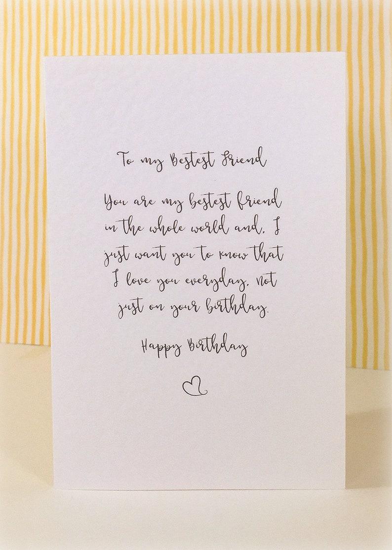 Birthday Card To My Best Friend Happy