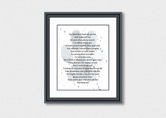 Pet Utraty Poem Wiersz Z Mojego Psa Pamięci Pet Pies Straty Poem Pamiętając Mój Pies Pies Kochanków Poem Drukowalne Poem Psa Instant Download