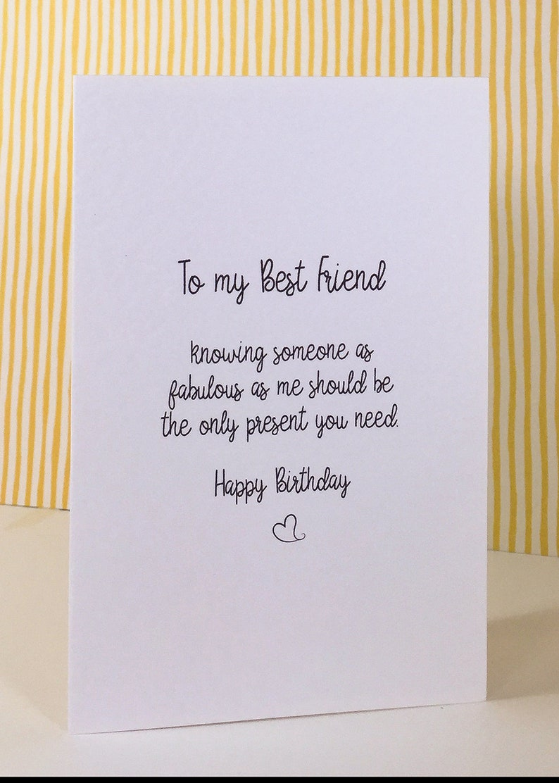 Birthday Card To My Best Friend Funny Happy