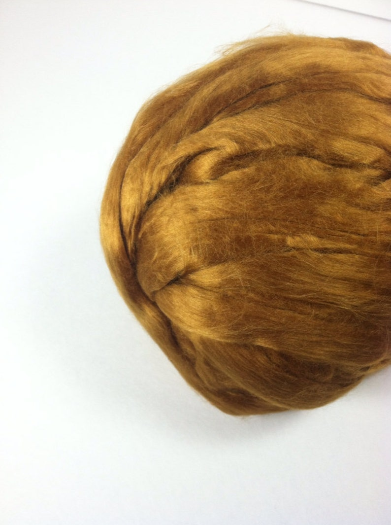 Dyed Bamboo Top Topaz  Topaz Bamboo Roving  Gold Bamboo Spinning  1lb  16oz