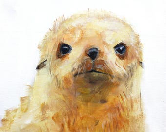 Little Seal print on canvas