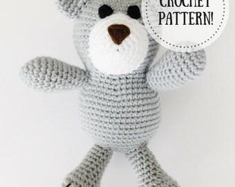 Crochet Pattern | Crocheted Bear Pattern | Crocheted Bear Amigurumi Pattern