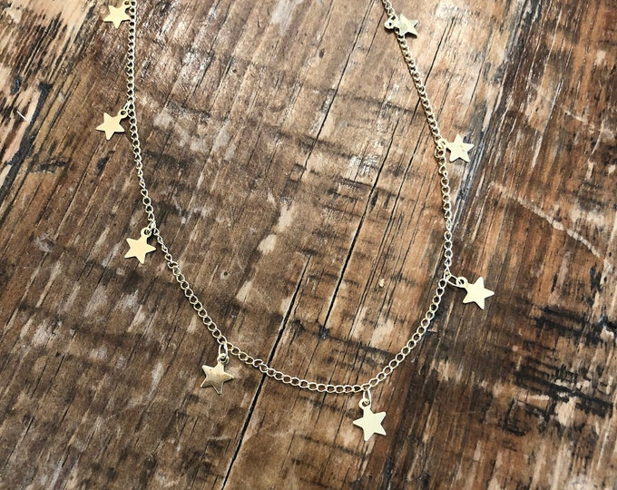 Star Choker. Star Necklace. Choker