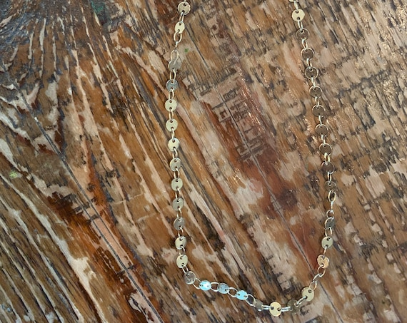 tiny gold disc choker necklace