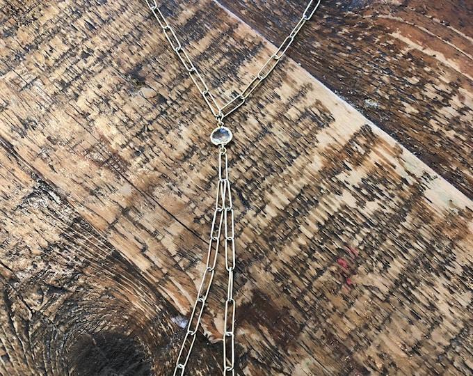 Paperclip Y Necklace