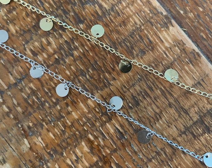 The Disc Choker. Silver Disc Choker. Gold Disc Choker. Gold Coin Necklace