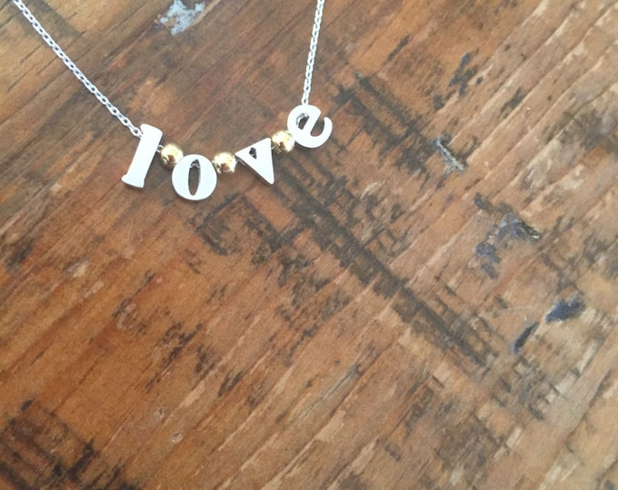 Hope & Love Typewriter Letter Necklaces.