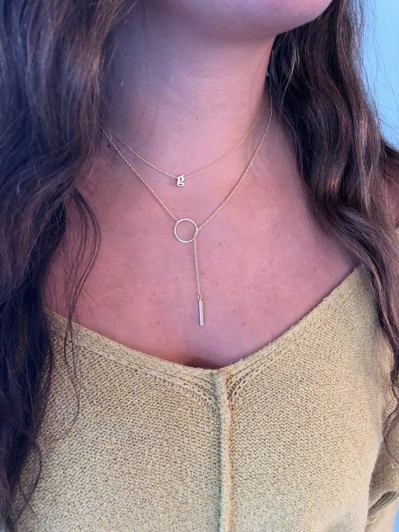 lariat necklace. y necklace