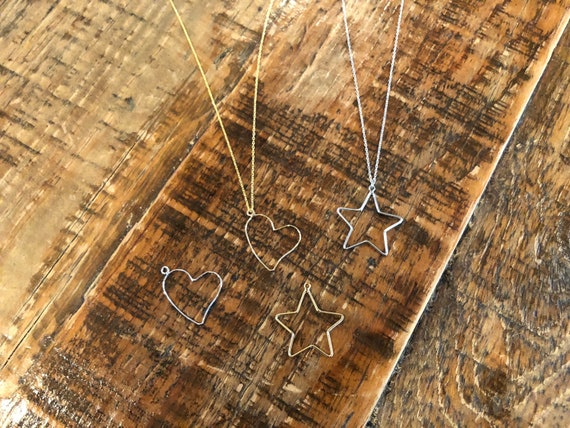 heart & star pendant necklace