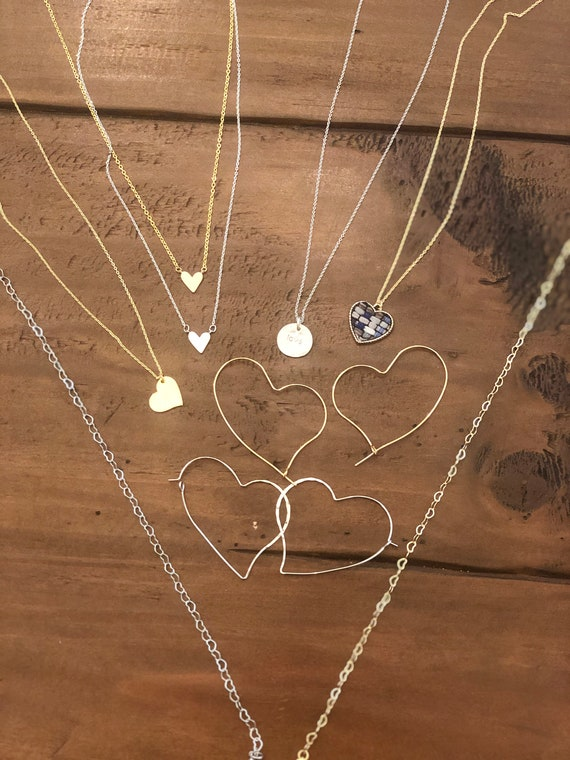 the heart collection. heart jewelry. valentines day jewelry. heart earrings. heart necklace. heart choker