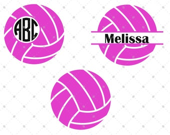 Volleyball SVG Cut Files, Volleyball Monogram Frames, cut files for Silhouette, cut files for Cricut, svg files, svg files