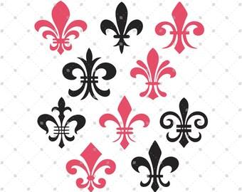 Fleur De Lis SVG Cut Files for Cricut, Silhouette and other Vinyl Cutters, svg files